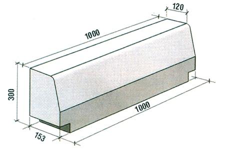 tehnobeton kraspedo 1000x300x153-120 1