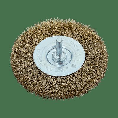 Συρματόβουρτσα Στρόγγυλη με Αξονάκι FF Group