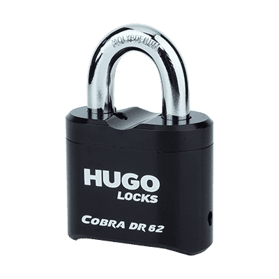 Λουκέτο Συνδυασμού Μασίφ Ατσάλι Hugo Cobra DR 62