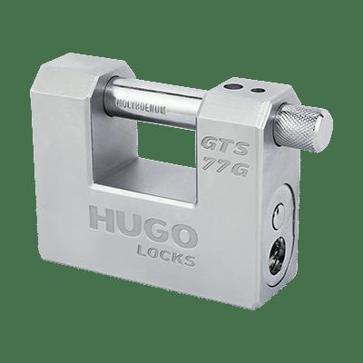 Λουκέτο-Τάκος Μασίφ Ατσάλι Hugo GTS 77G με 3 Κλειδιά