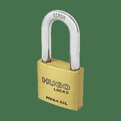 Λουκέτο Ορειχάλκινο Μακρύλαιμο Hugo Mega L 3 Κλειδιά